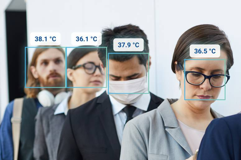 Body Temperature up to 5 persons simultaneously